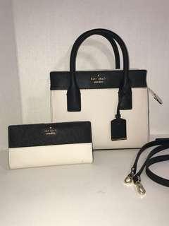 New Kate Spade 2 Way Bag & Matching Wallet