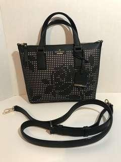 New Kate Spade 2 Way Bag (Black/Floral)