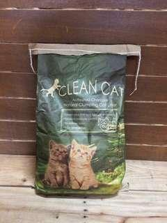 Clean Cat with Activated Charcoal Cat Litter Unscented 10 kilograms