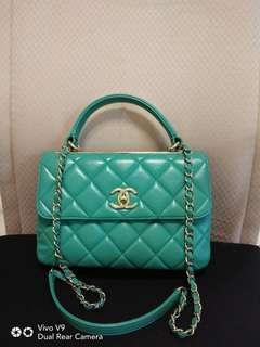 Authentic Chanel Trendy CC Green Turquoise