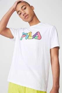 BNWT fila colourful basic t shirt