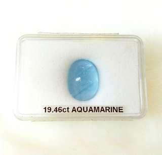 Natural Aquamarine Gemstone (Israel, 19.46CT)