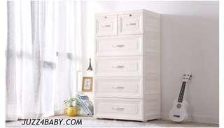Free delivery XXL 5 tiers Euro Design Drawers cabinet