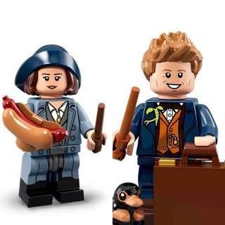 Lego Newt Scamander & Tina Goldstien from Fantastic Beast Minifigure series