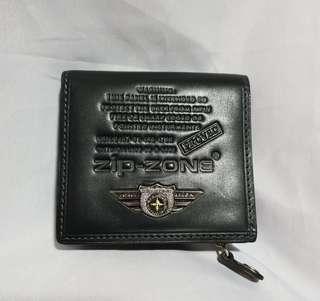 Authentic ZIP ZONE Men's Wallet