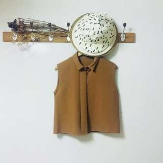 🚚 ajpeace隱藏釦挺版無袖襯衫