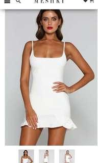 Meshki angela white dress