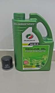 Perodua Engine Oil (Minyak Hitam) Fully Synthetic 4L (SAE 0w-20)