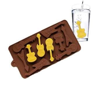 Guitar 5 Design Mold 10 Cast / guitars music instrument instruments melody string strings melodies