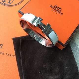 Hermes bracelet white/silver