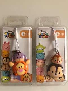 Limited edition brand new Disney Tsum Tsum Chip & Dale and Tigger design Ezlink charms for sale .