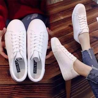 LAYLA Ladies' White Korean Sneakers