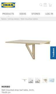 IKEA Norbo drop leaf Table