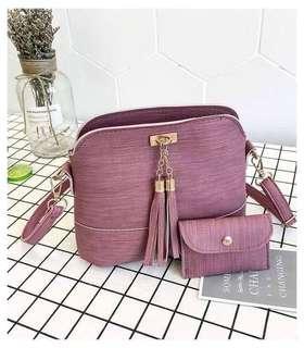 TEENA 2in1 Korean Faux Leather Bag & Wallet