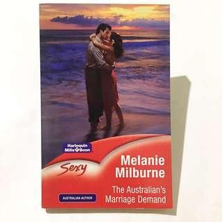 MELANIE MILBURNE - The Australian's Marriage Demand