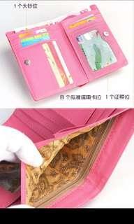 Women short yellow wallet