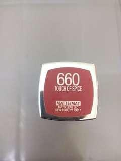 Maybelline Matte Lipstick Touch of Spice