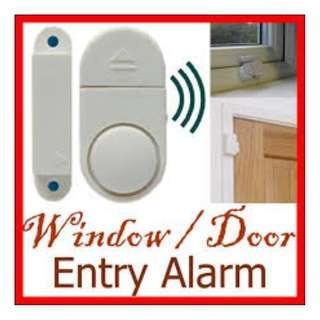 Window or Door Entry Alarm Security