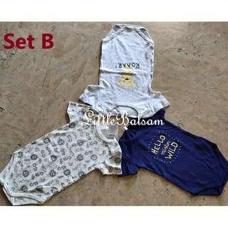Set of 3 Onesies for Big Tall Babies Up to 3 Years Old for Boys
