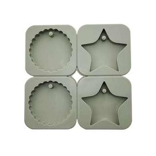 SOUVENIR 2 Round 2 Star Mold  / rounds circle circles stars candle candles wax soap