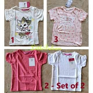 Girl's Shirts 3 to 4 Years Old - Variants 1 & 3