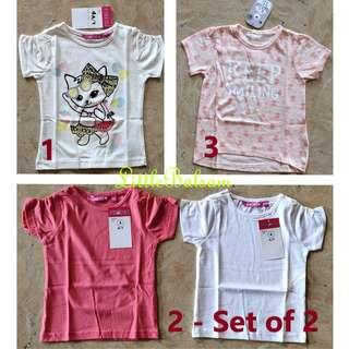 Girl's Shirts 3 to 4 Years Old - Variant 2 (Set of 2)