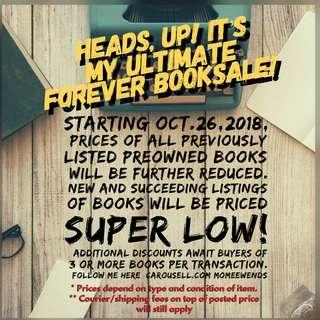Preowned Books On Sale...Forever!