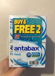 Antabax Antibacterial Soap Fresh BUY 6 FREE 2