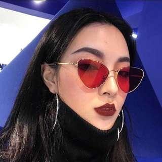 Trendy red sunglasses