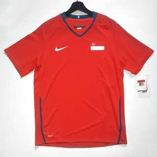 30b3cade6  SOLD  Nike Singapore Lions Football National Team Home Red Jersey 08-09