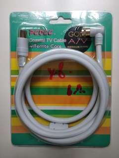 TV電視天線cable 電線 (約1.8m長) TV Coaxial cable