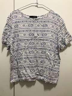 🚚 H:Connect圖騰短袖上衣