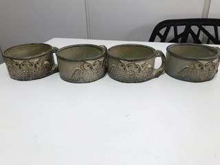 Unique stone cups and glasses