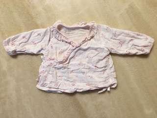 🚚 麗嬰房紗布衣(粉紅色)