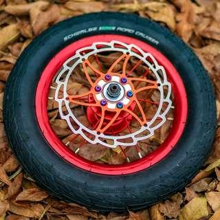 Colored Spoke Rim 12inch for AM, DYU and Fiido Electric Scooter Escooter