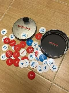 HONDA Fridge Magnet Calendar