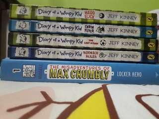 [WTS] Diary of a Wimpy Kid + Misadventures of Max Crumbly