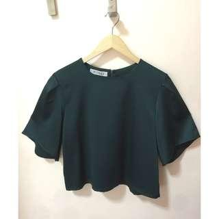 BRANDNEW Dark Green Blouse for women, size Large