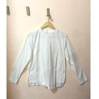 BRANDNEW H&M LONG SLEEVE BLOUSE WHITE, EUR40