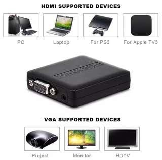HDMI Male to VGA Female Video Converter Adapter with Audio for PS3/PS4 Apple TV