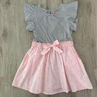 Cotton On Polka Dots & Pink Dress
