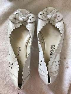 Pavacini Italy White Leather Flats