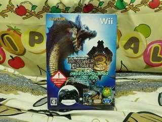 中古 Wii Monster Hunter tri 連手掣特別版