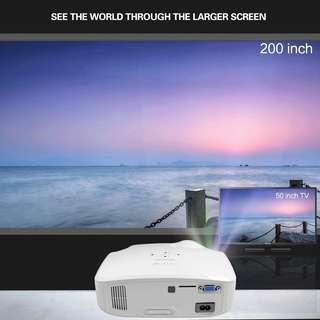 🆕🆒 CRENOVA 2018 New LED Projector For Full HD 4K*2K Video Projector With VGA HDMI USB AV SD Home Theater Movie Beamer Projector