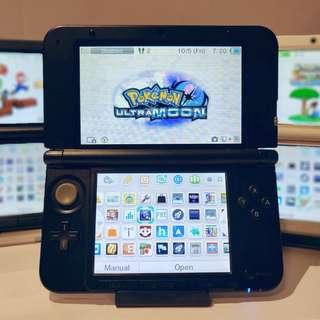 Nintendo 3ds XL + Pokemon Ultra Moon + 25 Games + Charger