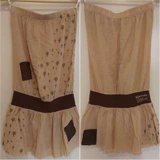 Mermaid Sister Summer Mini tree print strapless Dress size 8, 10, small