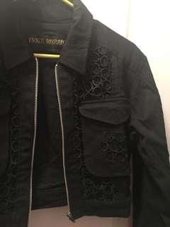 Black Vintage Cropped Jacket
