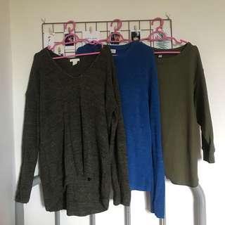 Uniqlo, H&M, Padini Knitwear