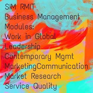 SIM Global Education RMIT Lecture Notes