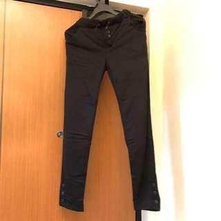 Black Button Pants